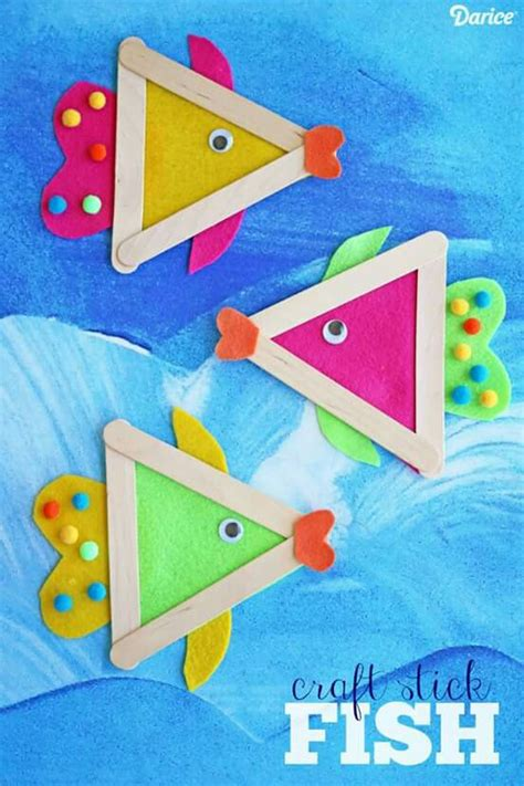 fish craft ideas for popsicle stick fish craft for summer craft
