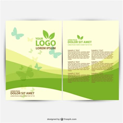 templates free brochure ecology template vector free