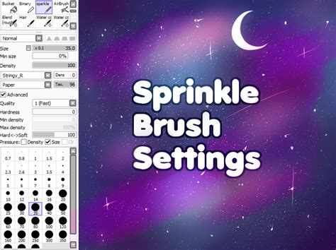 paint tool sai glitter brush sprinkle brush added fixes by ennusi on deviantart