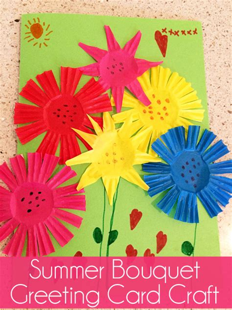 card craft ideas for summer bouquet greeting card craft skip to my lou