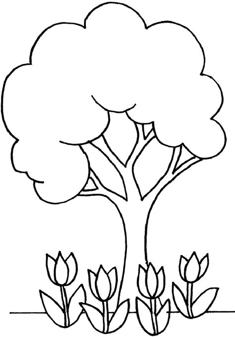 coloring pages tree az coloring pages