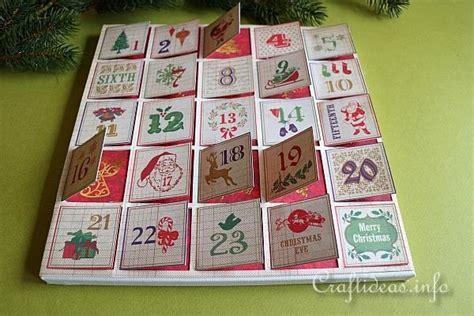paper craft calendars paper craft scrapbook paper advent calendar on