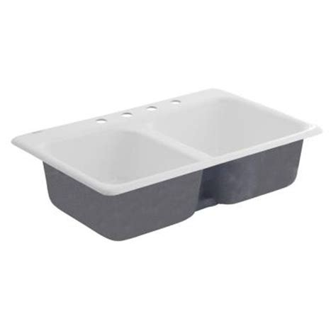 american standard white kitchen sink american standard top mount cast iron 33 in 4