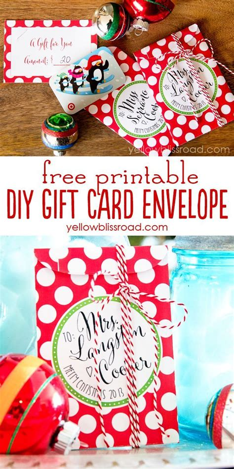 free printable gift card envelopes printable gift cards