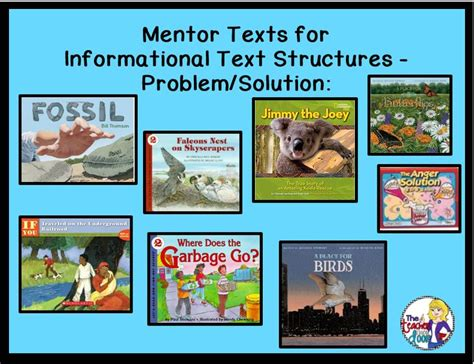 informational picture books mentor texts for informational text structures problem