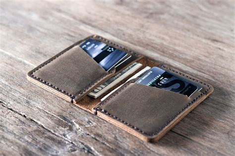 how to make a leather card holder credit card holder handmade leather personalized gift idea