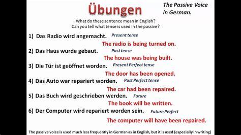 understanding the passive voice in german