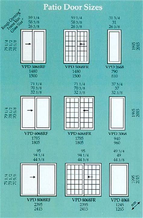 patio door measurements patio door sizes