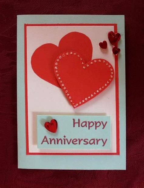 how to make a anniversary card anniversary card overlapped hearts card