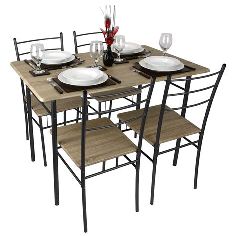 modern kitchen table and chairs cecilia 5 modern dining table and chairs set