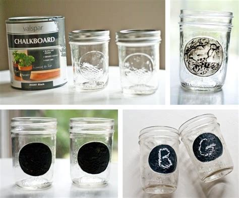 painting chalkboard paint on jars chalkboard paint jars jars