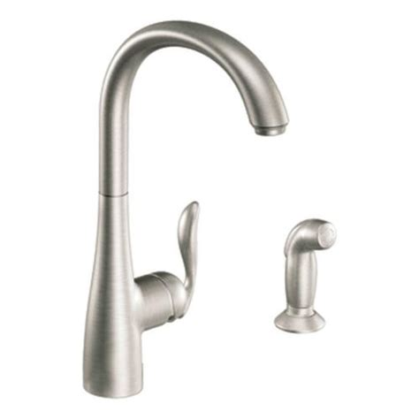 menards moen kitchen faucets moen arbor single handle kitchen faucet with matching side spray at menards 174