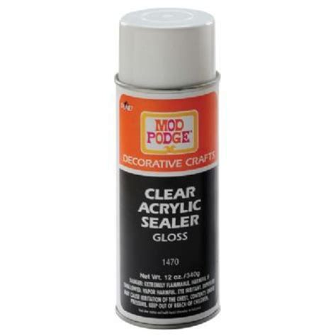 decoupage spray mod podge 174 clear acrylic sealer spray gloss gettin