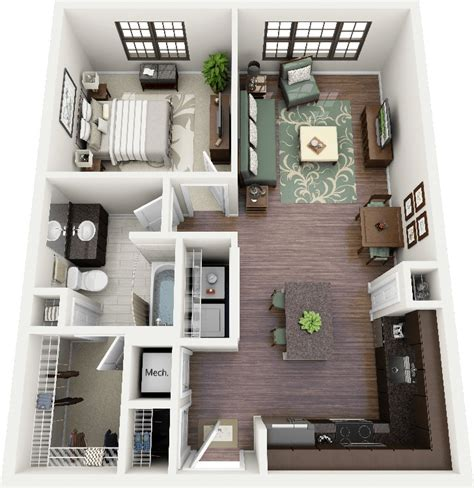 one bedroom flat designs 1 bedroom apartment house plans