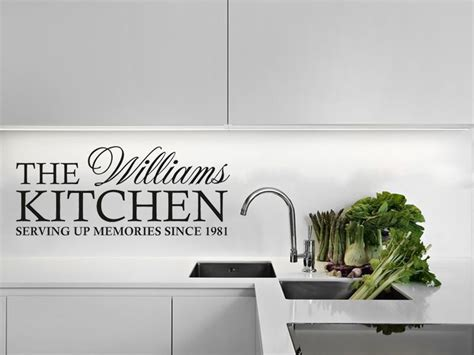 personalised wall stickers personalised family kitchen wall quote wall sticker decal