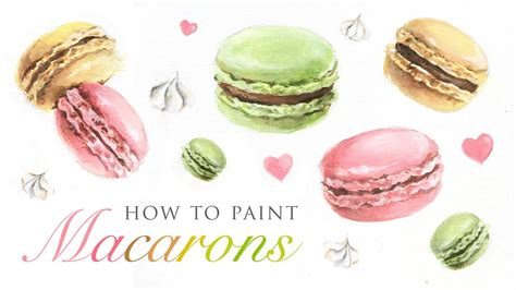 how to paint how to paint macarons tutorial for any skill