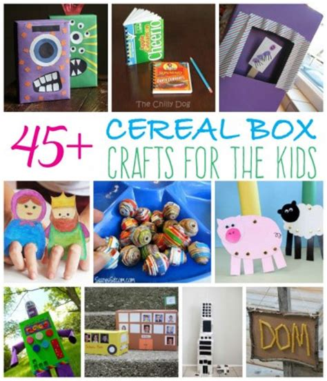 cereal crafts for recycled cereal box craft ideas for your