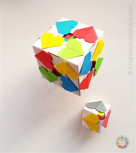 paper cube origami origami hearty cube origami tutorials