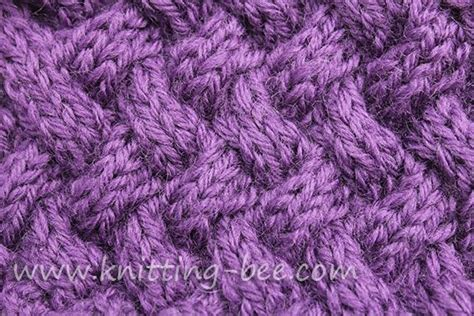 how to knit basket weave stitch medium sized diagonal basketweave cable knitting stitch