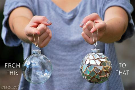 ornament craft ideas for diy mosaic ornaments from cds tutorial