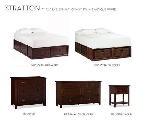 platform bed with storage drawers stratton storage platform bed with drawers pottery barn