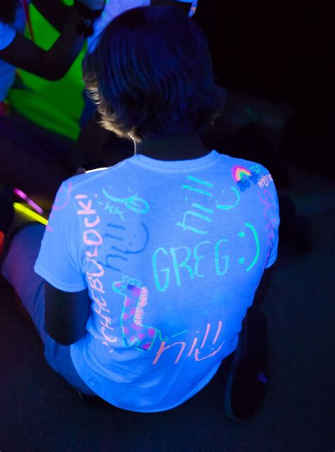 glow in the paint shirt some white t shirts and highlighters ready for guests