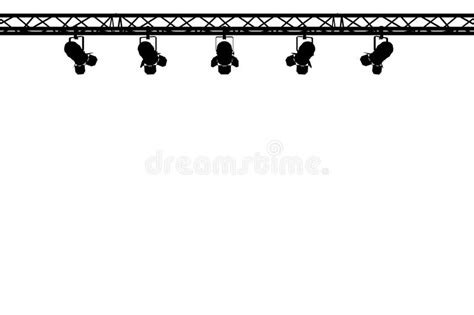 silhouette lights stage lights silhouette stock images image 17117554