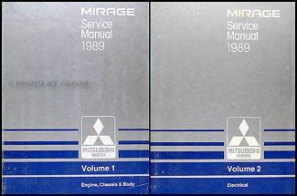 1989 mitsubishi mirage repair shop manual set original 1989 mitsubishi mirage repair shop manual set original