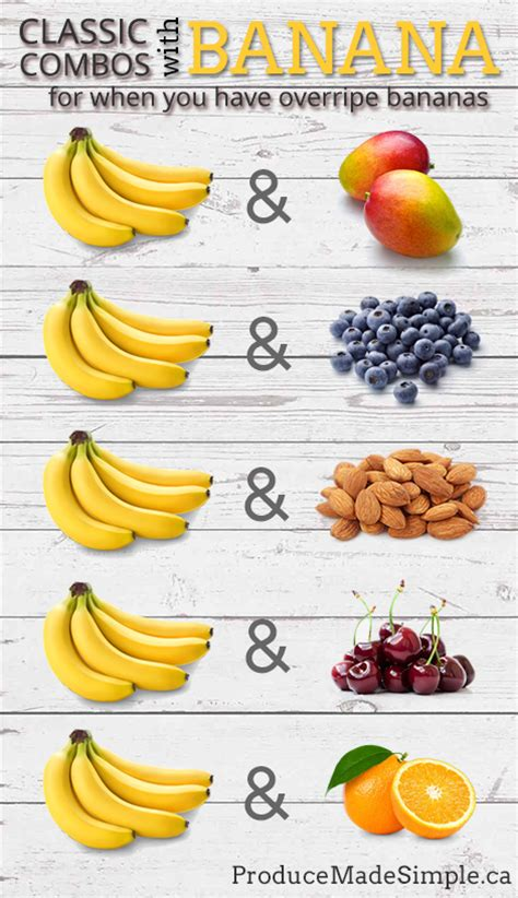 what goes with what goes well with banana produce made simple