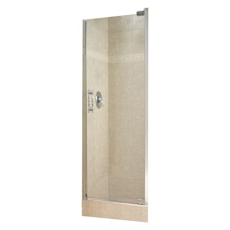 shower doors home depot maax 26 1 2 in x 67 in pivot shower door in chrome
