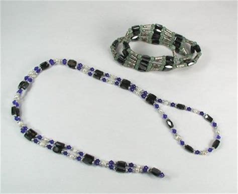 how to make magnetic jewelry two magnetic hematite necklace bracelets