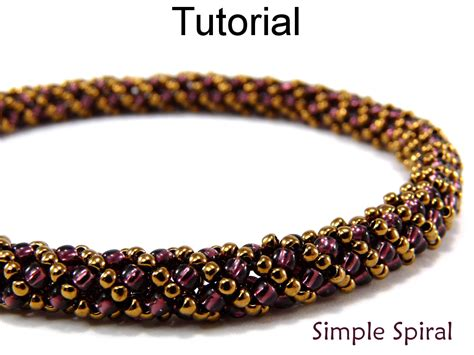 spiral beading beading tutorial pattern bracelet necklace russian