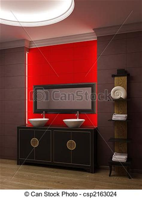 illustration asiatique style salle bains int 233 rieur banque d illustrations illustrations