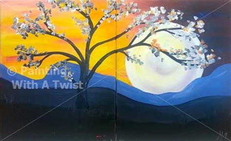 paint with a twist couples purple moon set couples date grapevine tx