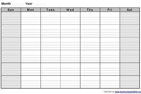 monthly blank calendar notes landscape sept