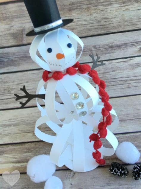 snowman paper crafts for how to make a snowman craft with paper strips the crafty