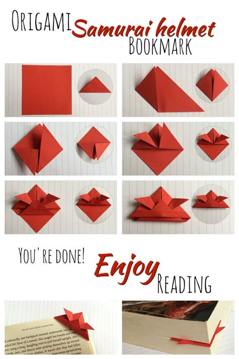origami bookmark 17 best images about book stuff on helmets