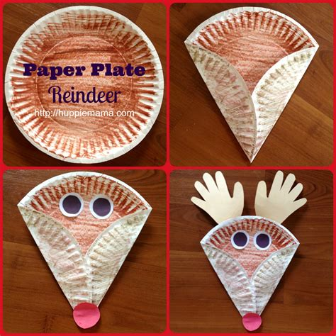 craft of paper plate paper plate reindeer carrie