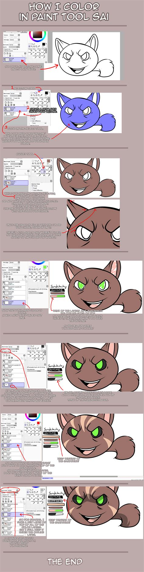 tutorial coloring di paint tool sai how i color in paint tool sai tutorial by xkoday on