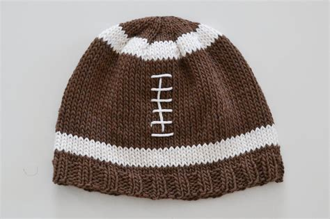 football knitting pattern and lovely knit football hat pattern