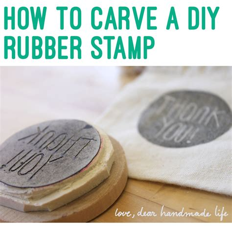 make a custom rubber st how to make a diy carved rubber st dear handmade