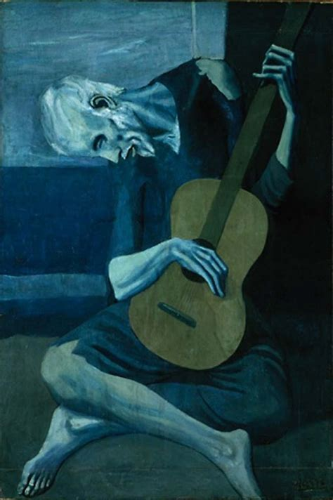 picasso paintings blue period guitar the guitarist by pablo picasso