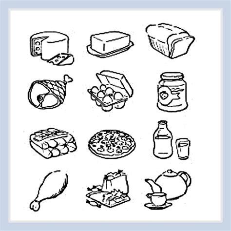 alimentos buenos para las embarazadas dibujos de alimentos saludables para imprimir y colorear