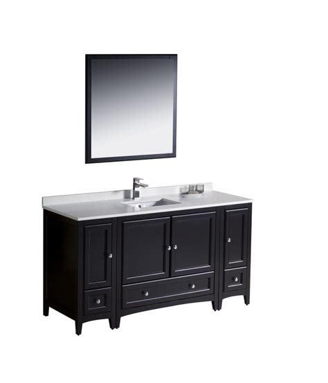 bathroom vanity 60 sink 60 inch single sink bathroom vanity in espresso
