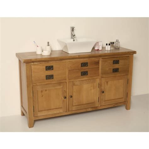 large bathroom vanity units valencia rustic oak large bathroom vanity unit click oak