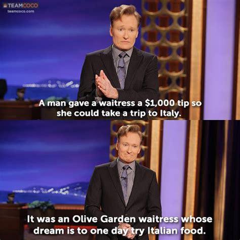 conan o brien olive garden conan monologue conan jokes about olive garden limbaugh and