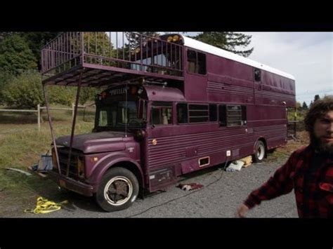 Remodeled Campers tour of double decker school bus conversion tiny house