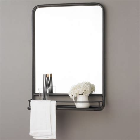 bathroom mirror with shelf and light metal mirror with shelf small shades of light