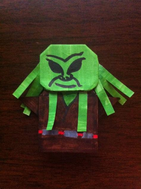 how to make origami kit fisto kit fisto and plo koon origami yoda