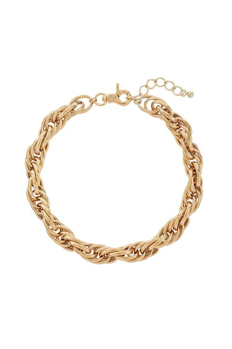 chunky for necklaces topshop chunky chain necklace in gold lyst